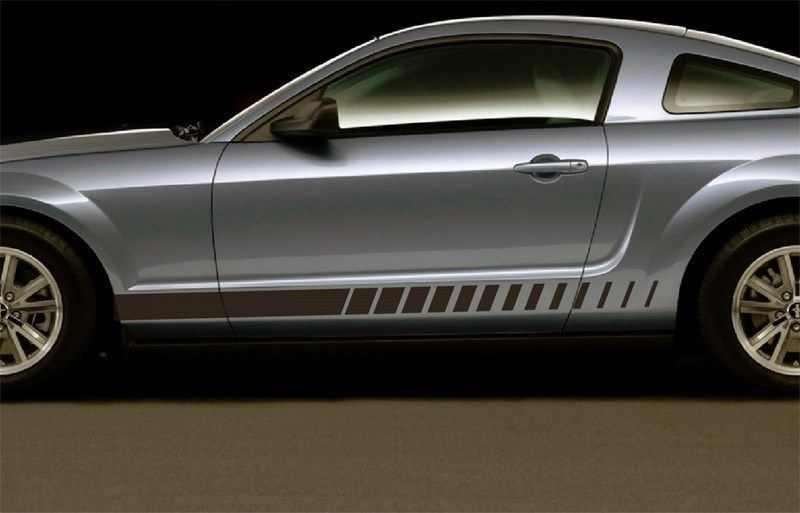 Для 1 набора/2 шт Ford Mustang боковые стробоскопические полосы наклейки графика 1964 2016 3M