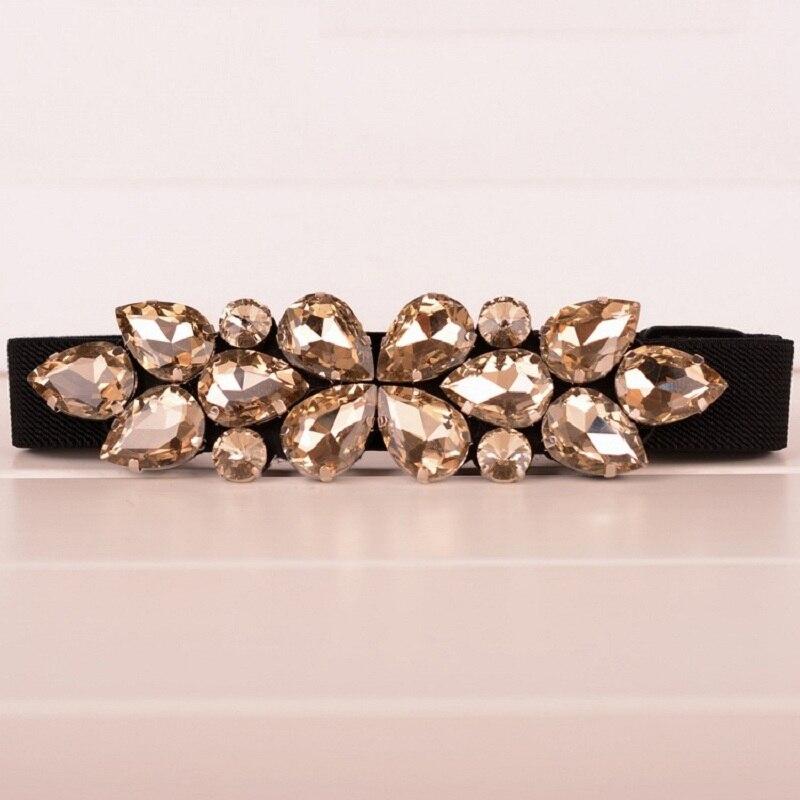 Elegant Rhinestone Belts Decoration Black Brown Cummerbund Thin Elastic  Waist Womens Belts Narrow corset belts for women -in Women s Belts from  Apparel ... dfccb6be8adf