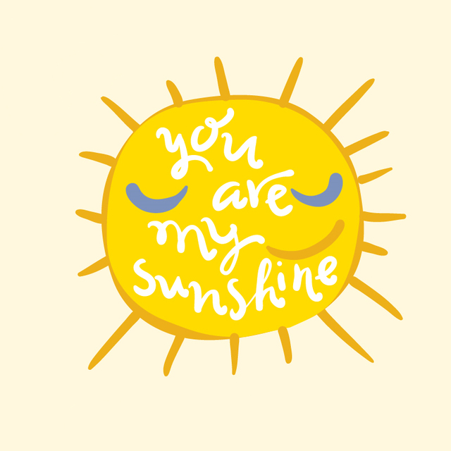 Doreenbeads 227x22cm You Are My Sunshine Patch T Shirt Press