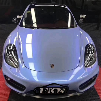 Newest ORINO Gloss Vinyl Film Double Colors Glossy Grey Blue Candy Vinyl Film Sheet Glossy Car Wrap Sticker With Air Bubble Free