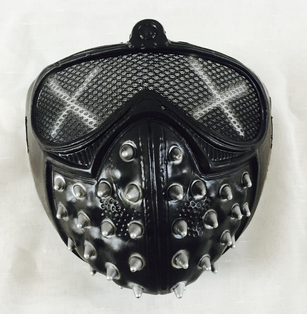 Watch Dogs 2 WD2 Mask Takerlama Game Marcus Holloway Wrench Cosplay Rivet Face Mask Half Face PVC Mask Party Cosplay Props