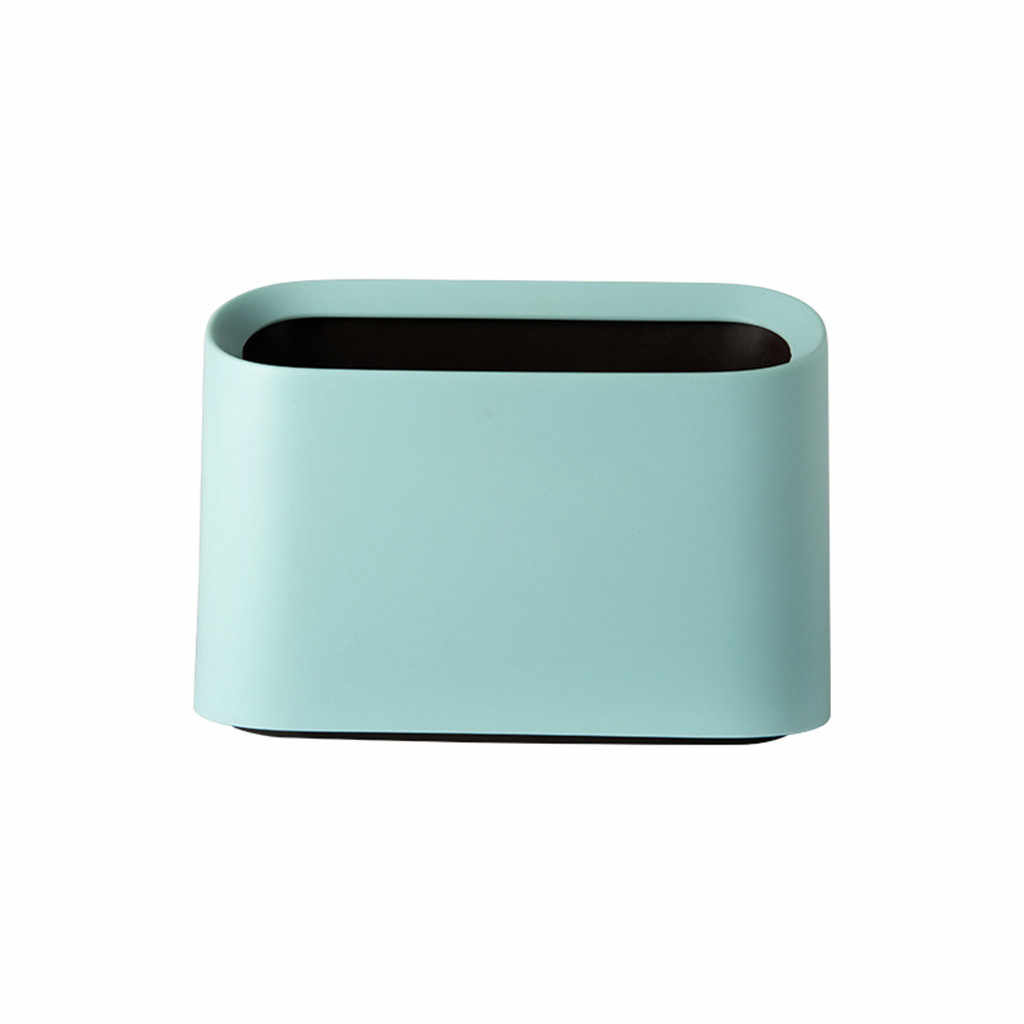 Trompete Desktops Mini Lata de lixo Criativo Cozinha Coberto Sala 21X9X15 CENTÍMETROS plástico verde rosa prático lata de lixo de armazenamento