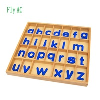Fly AC Montessori Educational Wooden Toys For Children abc alphabet box Toy Baby Development Practice and Senses Toys Gift