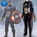 2016 Новый Капитан Америка 3 Гражданской Войны Капитан Америка Делюкс Косплей Костюм мужская Одежда Хэллоуин Косплей Костюм