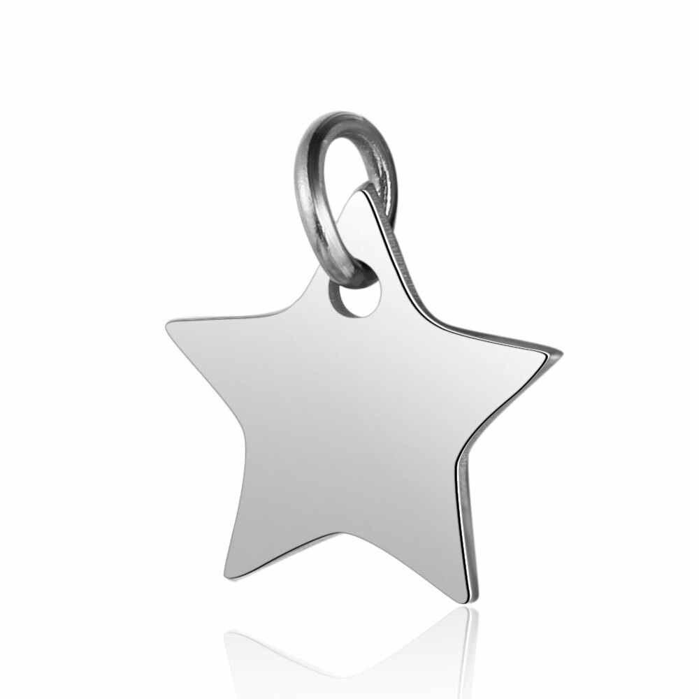 5 pz/lotto di Titanio In Acciaio Inox 12x13mm Star di Fascino con Loop Misura FAI DA TE Collana Del Pendente Monili Che Fanno Gli Accessori fornitore