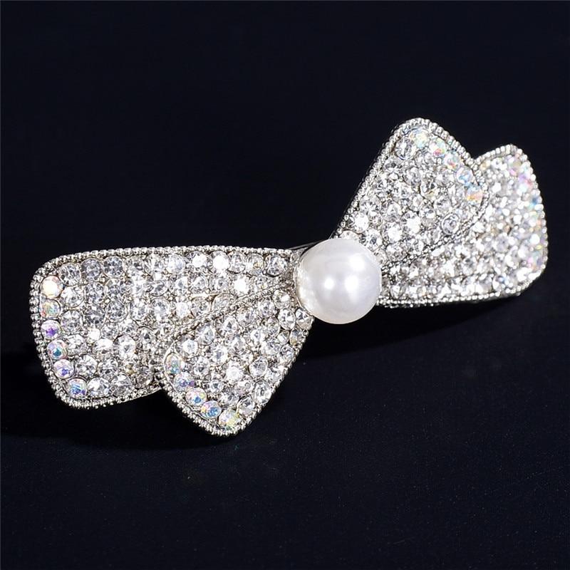 1pc High Quality Luxury Hair Clip Simulated Pearl Cross Hairpin Lovely Girls Elegant Women Headwear Popular Fashion Jewelry