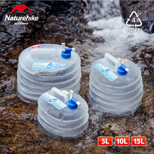 NHtourism and hunting collapsible bucket foldable bag-hiking water buckes camping equipment lightweight plastic bottle цены