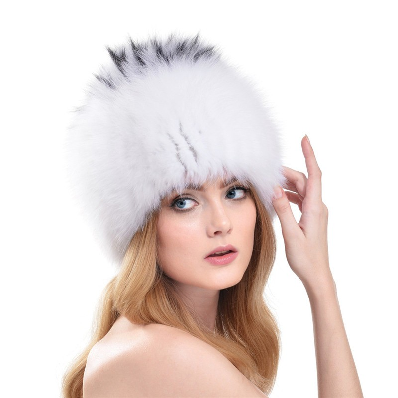 QUEENFUR-Women-Winter-Fox-Fur-Hats-Genuine-Fox-Fur-Knitted-Beanies-2016-New-Design-Russian-Style (3)