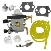 Carburetor & Fuel Filter & Spark Plug Fit STIHL HS81R HS86 HS86R Hedge Trimmer