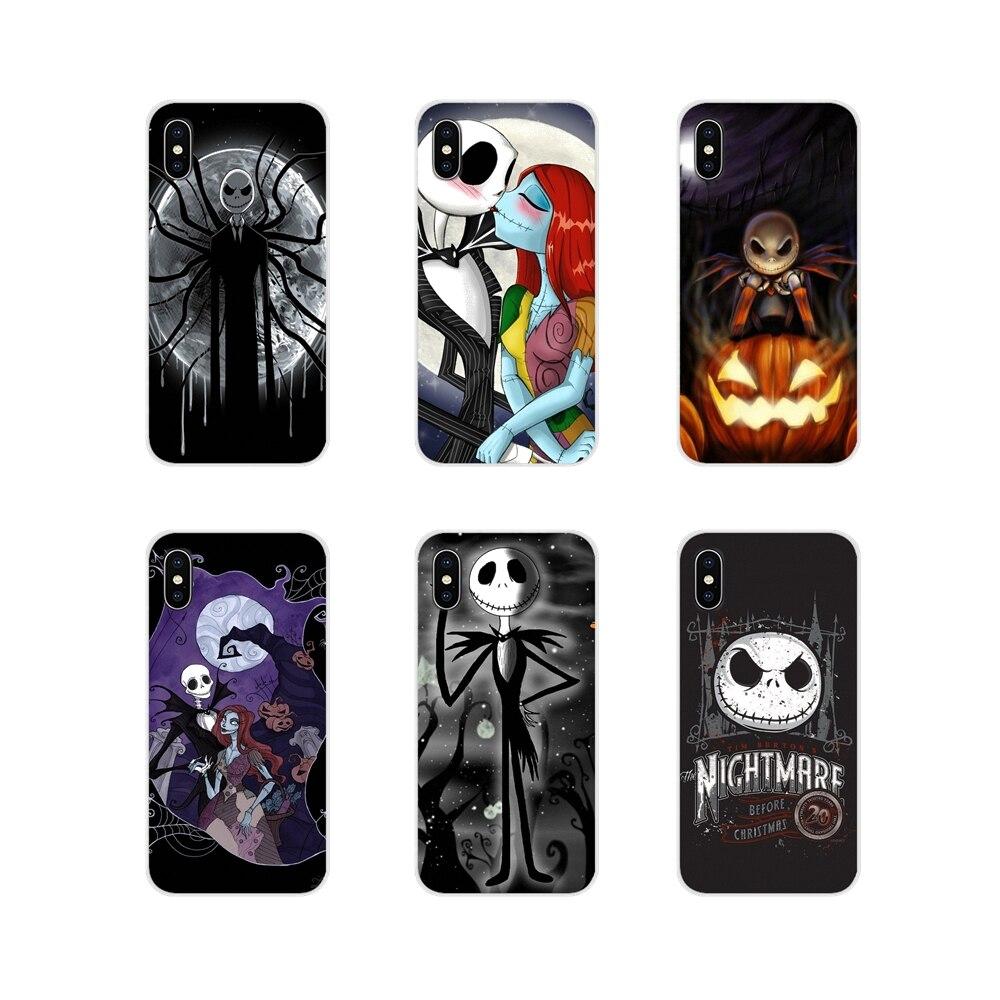 Для Apple iPhone X XR XS MAX 4 4S 5 5S 5C SE 6 6S 7 8 Plus ipod touch 5 6 Кошмар перед Рождеством Салли Джек Чехлы для мобильных телефонов