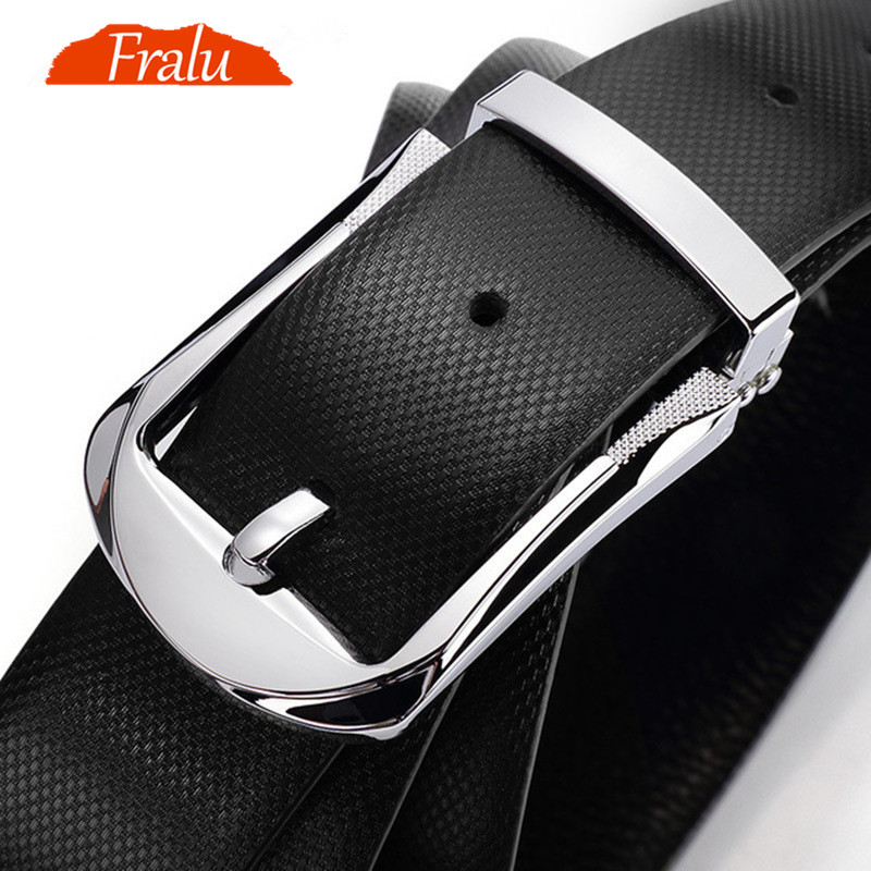 FRALU  Designer Belts Belt Men First Layer Cowhide Belt Male Leather Buckle Casual Business Trousers Male Belt