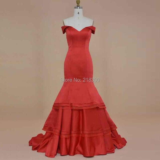 Weg von der schulter vintage abendkleid meerjungfrau rote ...