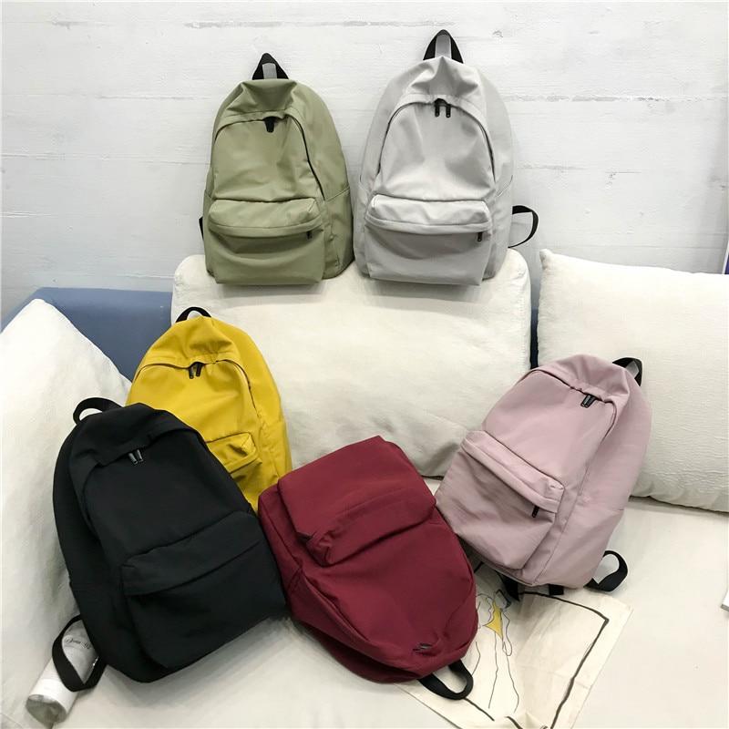 DCIMOR New waterproof nylon women backpack Japan style Solid Backpacks Mochila Feminina Mujer Travel bag Teenage Girls Schoolbag