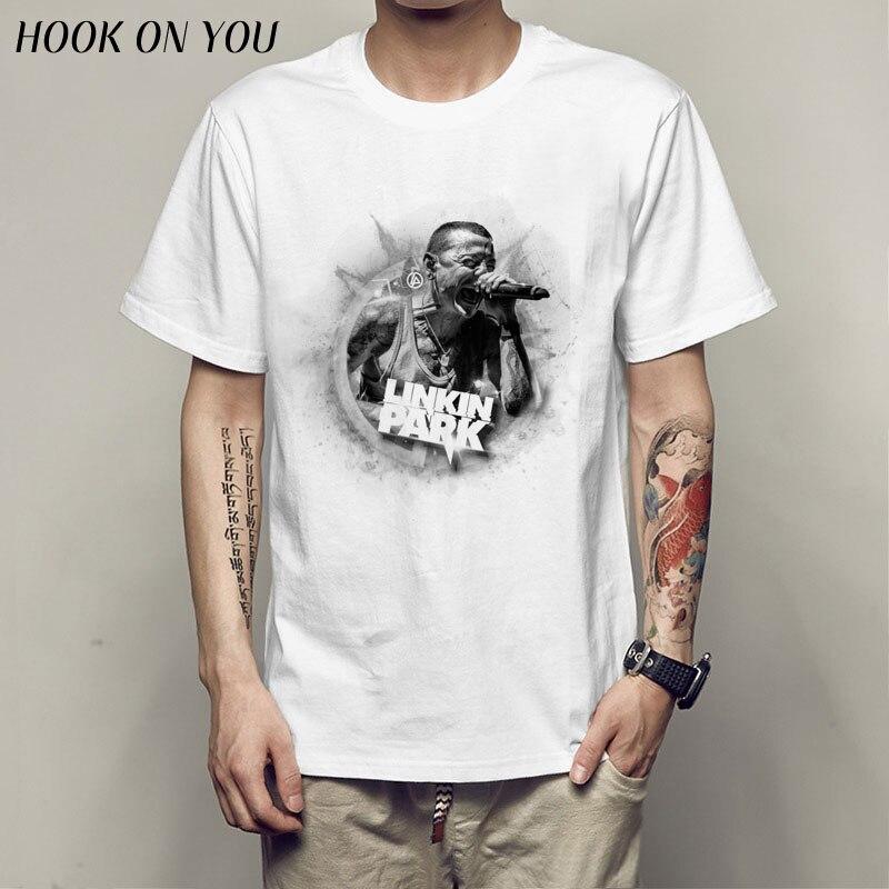 Linkin Park Chester Bennington 2017 fashion short t shirt printed Funny t-shirt men tops