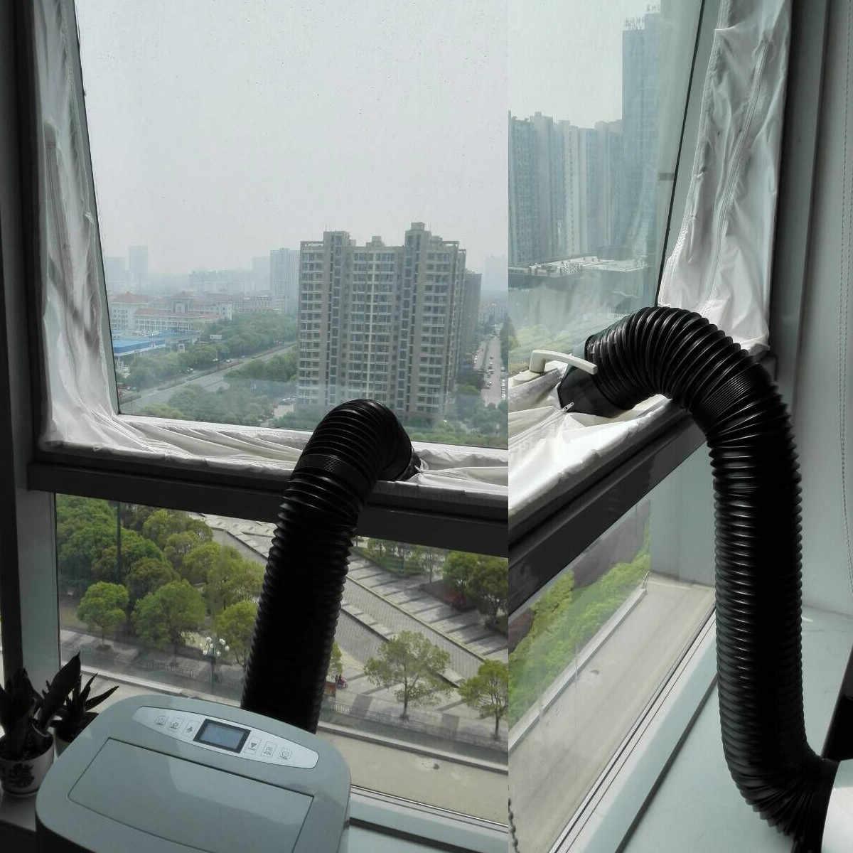 1Pc uniwersalne blokady powietrza uszczelnienie okna tkaniny taśmy do ruchomych układów klimatyzacji wodoodporne Suszarka domu klimatyzator części