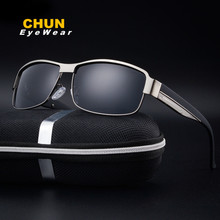 CHUN Popular Men Polarized Military Sunglasses Best UV Sunglasses  Police Driving Super Cool Anti Glare Visor Glasses + Case Y2