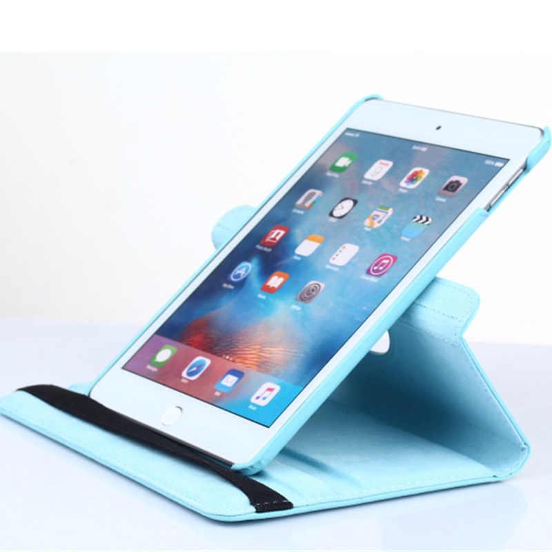 Funda 2017 para Apple iPad mini, funda de cuero de PU con tapa de rotación 360 para iPad mini 1 2 3 Funda para iPad mini 2