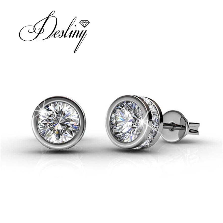Destino Jóias Embelezado com cristais de Swarovski brincos Brincos DE0212 GlamSolitaire