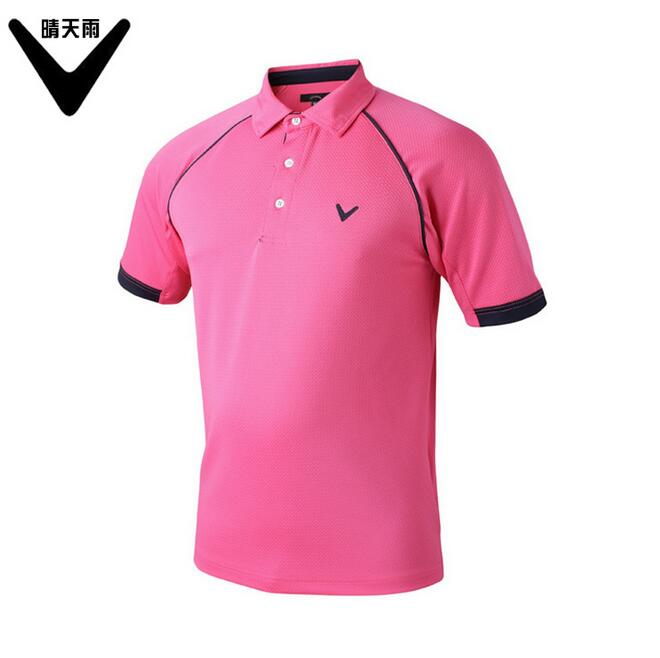 CAIIAWAV Mens Short sleeves Golf T-shirt outdoor sports breathable Quick-dry Solid color Golf shirts summer sportwear