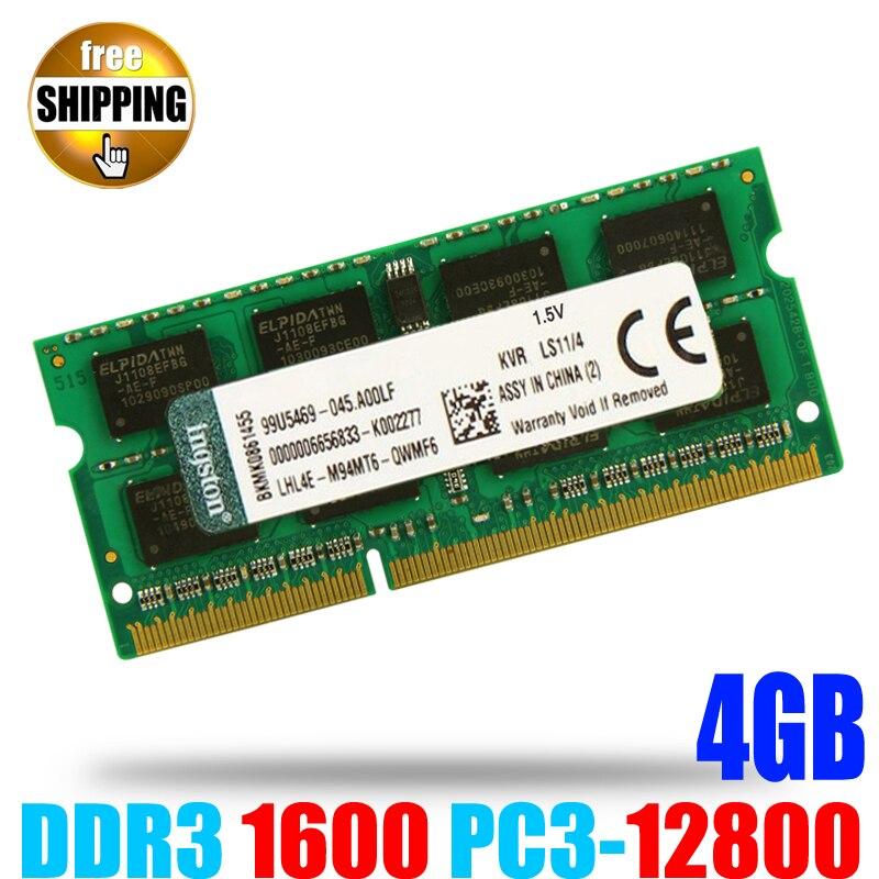 DDR3 1600 PC3-12800 / DDR 3 1600MHz PC3 12800 Non-ECC 204 pins 1.5V 4GB SODIMM Memory Module Ram Memoria for Laptop / Notebook
