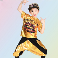 Children's Sequined Modern dance Tops+Pants Kids Ballroom performance Hip Hop Jazz Dancwear Costumes Outfits For Boys and Girls