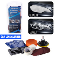 DIY Professional Car Motorcycle Headlight Restoration Tools Kit Auto Cars Head Light Motor Cleaner Polishing Repair