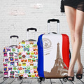 4 Style Travel Luggage Suitcase Protective Cover, Stretch, Apply to 18 inch to 32 inch Cases, Travel Accessories
