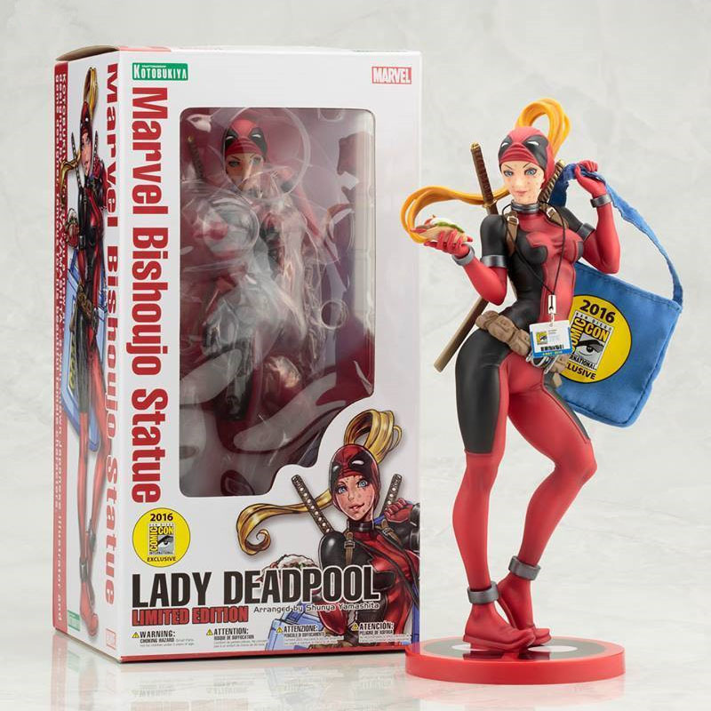 Free Shipping 9 Super Hero X-MEN The Lady Deadpool Shopping Ver. Boxed 23cm PVC Action Figure Collection Model Doll Toy Gift free shipping 6 comics dc superhero shfiguarts batman injustice ver boxed 16cm pvc action figure collection model doll toy