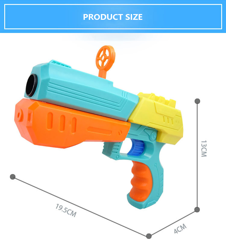 1 miękki pocisk pistolet + 6 pocisków Mini instrukcja EVA