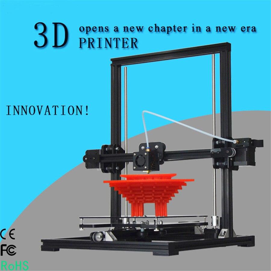 2017 Newest Tronxy X3 DIY 3D Printer Kit Aluminum Structure Machine Reprap Prusa i3 3D Printing 1 Rolls Filament 8 GB SD Card 2017 newest tevo tarantula prusa i3 3d printer diy kit