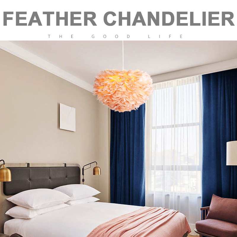 Feather Droplight with 3Color Bulb Parlor Romantic Feather Chandelier 30CM Bedroom Dreamlike Pendant Feather Lamp Drop ShippingFeather Droplight with 3Color Bulb Parlor Romantic Feather Chandelier 30CM Bedroom Dreamlike Pendant Feather Lamp Drop Shipping