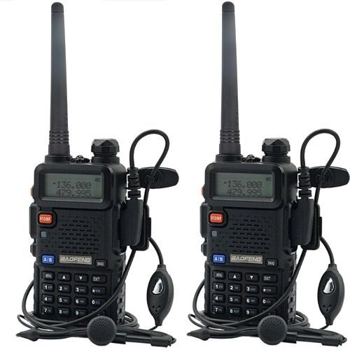 2X Baofeng UV-5R Dual Band UHF/VHF Radio RF 5W OUTPUT NEW Version +US STOCK
