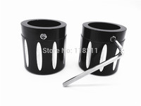 Motorcycle Accessories 2PCS Black Front Axle Nut Cover Cap For Harley Softail Dyna V Rod Touring