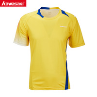KAWASAKI Shirts Sleeve Quick Dry Polyester Shirt for Badminton Table Tennis Running Gym Fitness Sports Clothes ST T1022
