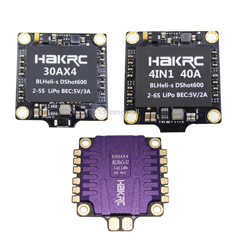 HAKRC 4x50A 30A 40A 4In1 50A 3-6 S BLHeli_32 5 V 3A BEC Dshot1200 Mini Taille ESC pour bricolage quadrirotor FPV Drone De Course