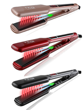 Promo offer HTG Professional Hair straightener iron Flat Negative ion ionic Hair Straightening +lcd infrared Technology HT087L Wide plates