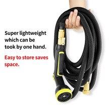 25Ft-100Ft Retractable flexible Garden Hose Lightweight Wear-Resistant Car Watering Multi-Function Sprayer Set