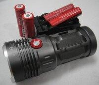 Free Shipping Hot Cheap SKYRAY 6500 Lumen 4x CREE XM L T6 LED Flashlight Torch 4