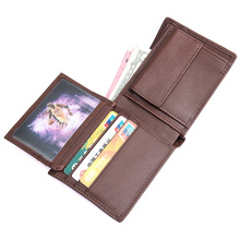 J.M.D High Grade Real Leather Mens Wallet Fashion And Classic Card Holder Two Folds Short Case Brown 8151C