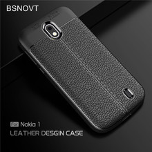 For Nokia 1 Case Shockproof Leather Soft TPU Bumper Anti-knock Phone Cover TA-1047 TA-1060 BSNOVT