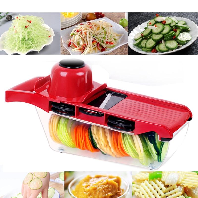 купить Vegetable Cutter with Steel Blade Mandoline Slicer Potato Peeler Carrot Cheese Grater vegetable slicer Kitchen Accessories недорого