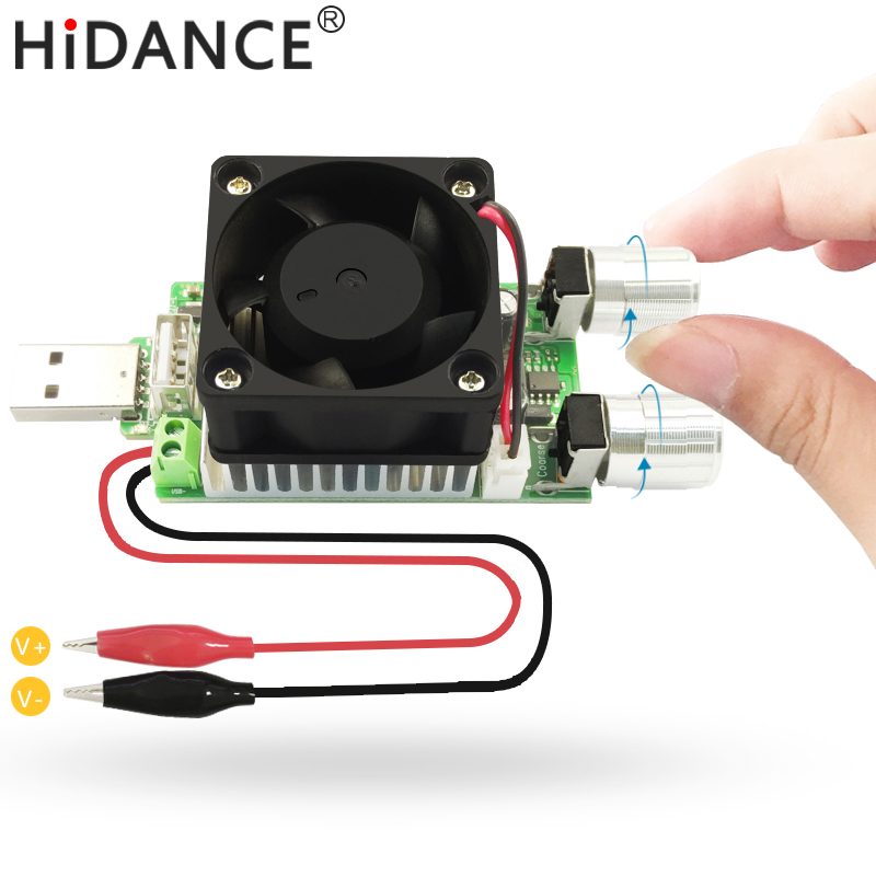35W USB DC load resistor electronic adjustable constant current industrial discharge 18650 resistance battery capacity tester