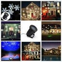 ZINOU nieve en movimiento láser al aire libre proyector impermeable invierno copo de nieve proyector LED Luz de escenario para Navidad|Efecto de iluminación de escenario| |  -