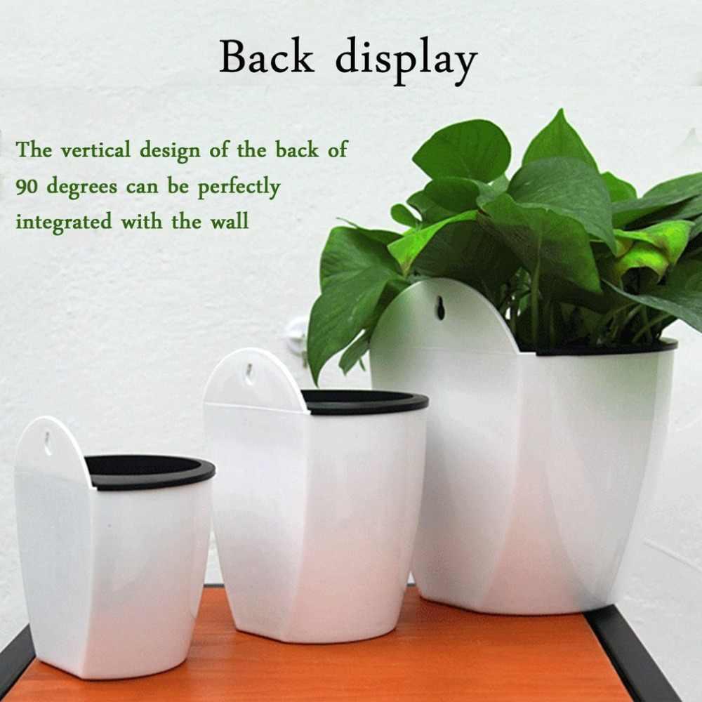 Design moderno Home Da Parede Pendurado Vaso de Flores Projeto da Forma Redonda Resina Hidroponia Chlorophytum Vaso Vasos de Flores