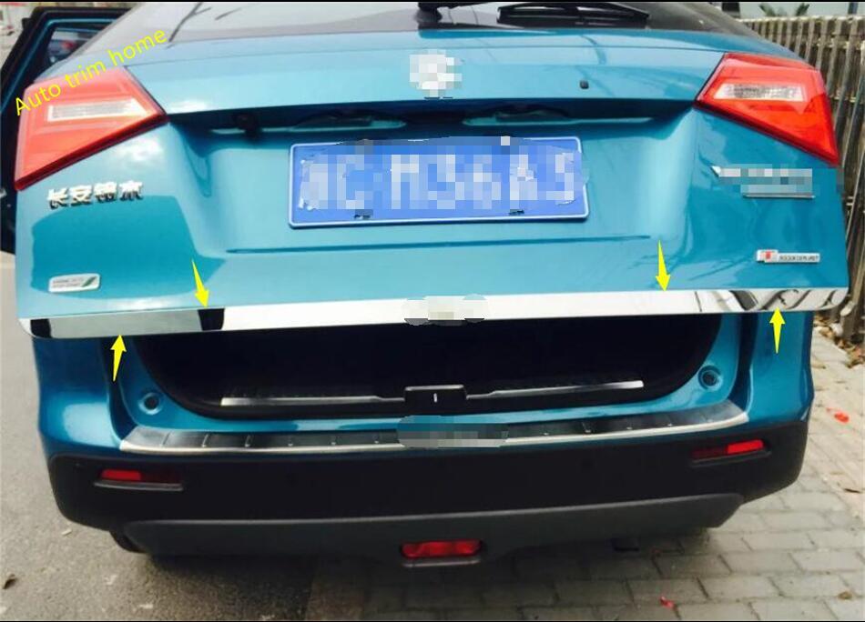 Pour Suzuki Vitara 2015 2016 2017 2018 Arrière En Acier Inoxydable tronc Hayon Porte Tail Bas Couvercle Streamer Cover Version 1 Pcs