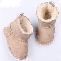Wysokiej jakości 2017 dziecięce śniegowe buty futrzane ciepłe na buty dziecięce zimowe buty 3 12 miesięcy miękkie dziecięce buty w Buty od Matka i dzieci na