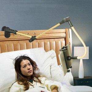Image 5 - Vmonv składane długie ramię Tablet uchwyt stojak na IPad 4 14 cal 360 obrót silne leniwy łóżko uchwyt do tabletu dla IPhone X XS