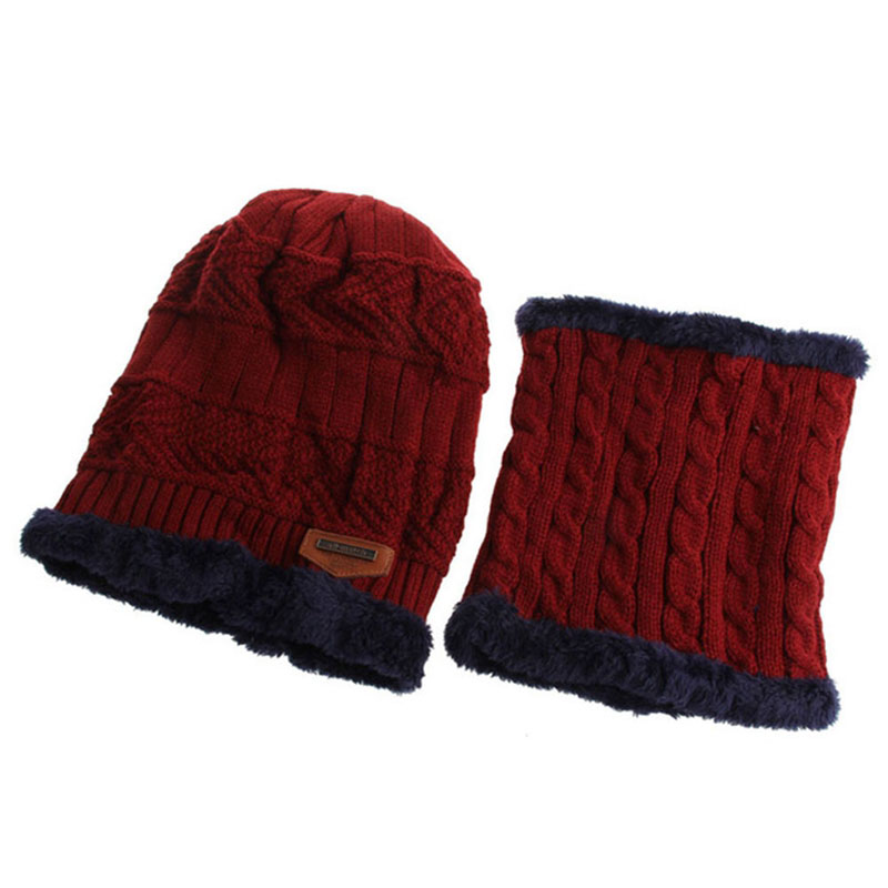Warm Knitted Hat and Circle Scarf (29)