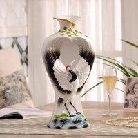 Фланец фарфоровая ваза украшения сосна кран ваза для цветов 16 дюймов керамические вазы, украшения для людей пожилого возраста на день рожде