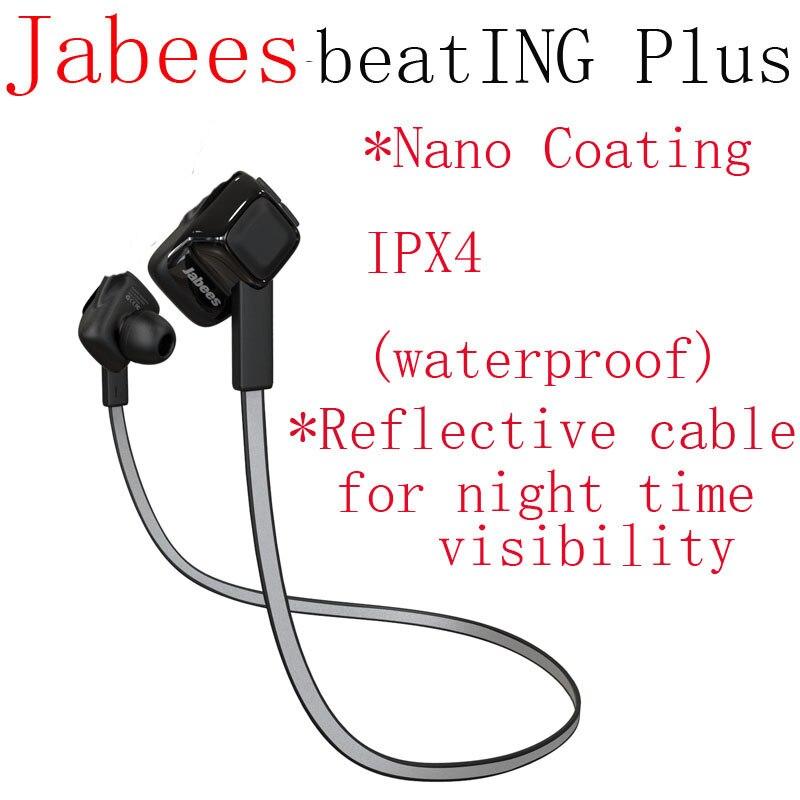 ФОТО Jabees Beating Plus Waterproof Headphone Bluetooth Wireless Headset Sweatproof Sports Stereo Earphones Running Exercise Earbuds
